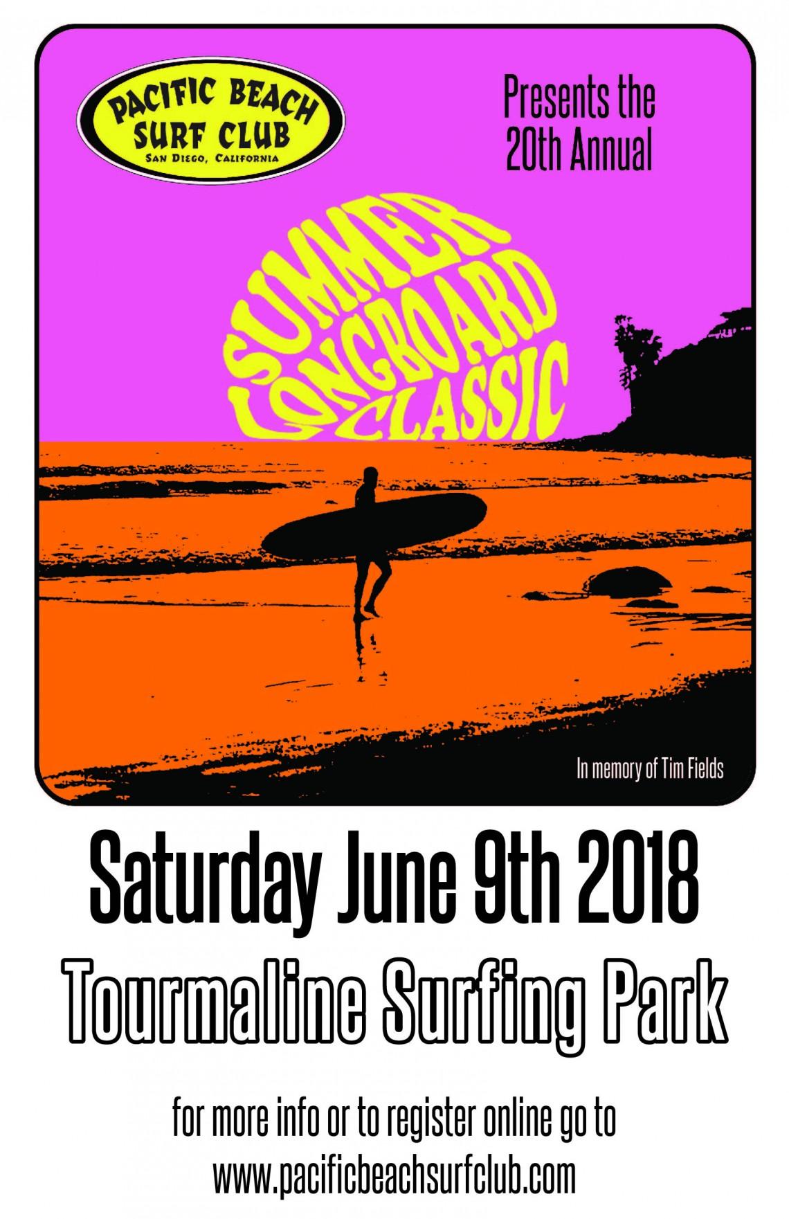 Pacific Beach Surf Club 2018 Summer Longboard Classic