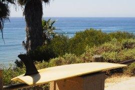 Surfboards Hawaii V-bottom surfboard at Swamis in Encinitas