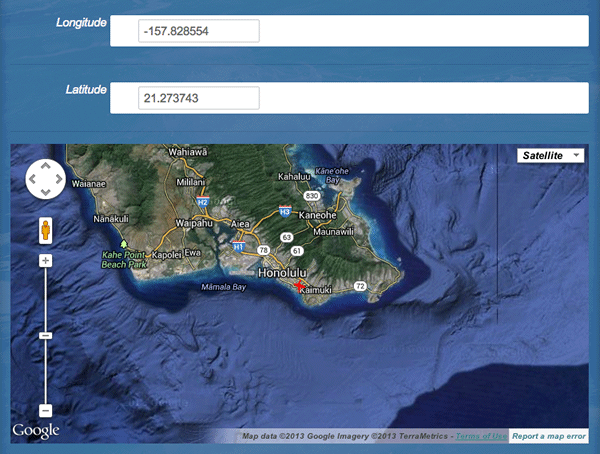 Place a surf break on the map on isurfedthere.com