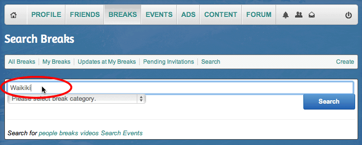 Search All Surf Breaks on iSurfedThere.com
